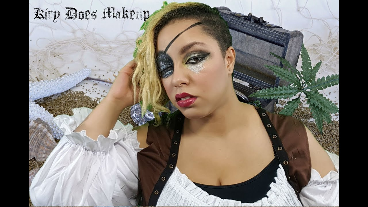 Easy Pirate Makeup Look Glitter Eye Patch
