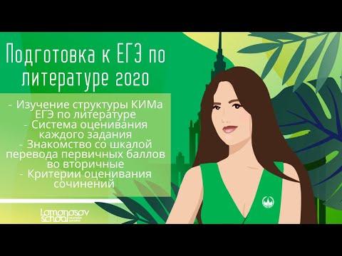 Занятие № 1 по подготовке к ЕГЭ 2020  по литературе