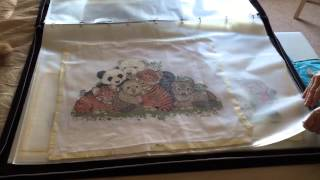 Mum's Bright Idea For Storing Finished Cross Stitch Projects