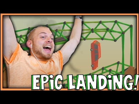 SquiddyPlays - Poly Bridge - EPIC LANDING! [5]