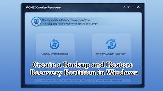 Create a Backup and Restore Recovery Partition in Windows 8.1