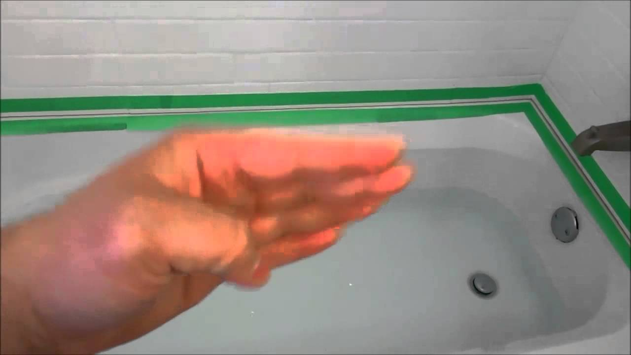 Caulking A Bathtub-Quick Tip-Fill It Up With Water - YouTube