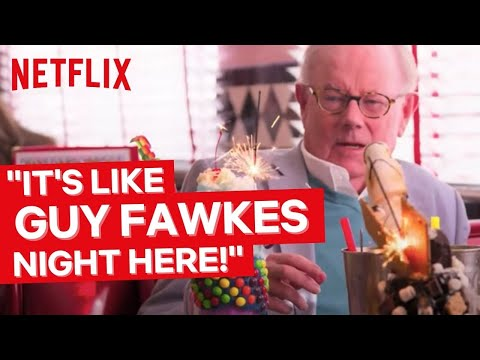Michael & Jack Whitehall Visit an American Diner   Jack Whitehall: Travels With My Father