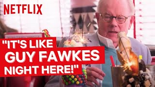 Michael & Jack Whitehall Visit an American Diner | Jack Whitehall: Travels With My Father