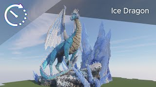Ice Dragon Mega Build | Minecraft Timelapse