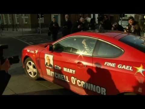 New TD Mary Mitchell O'Connor exits the Dail carpark