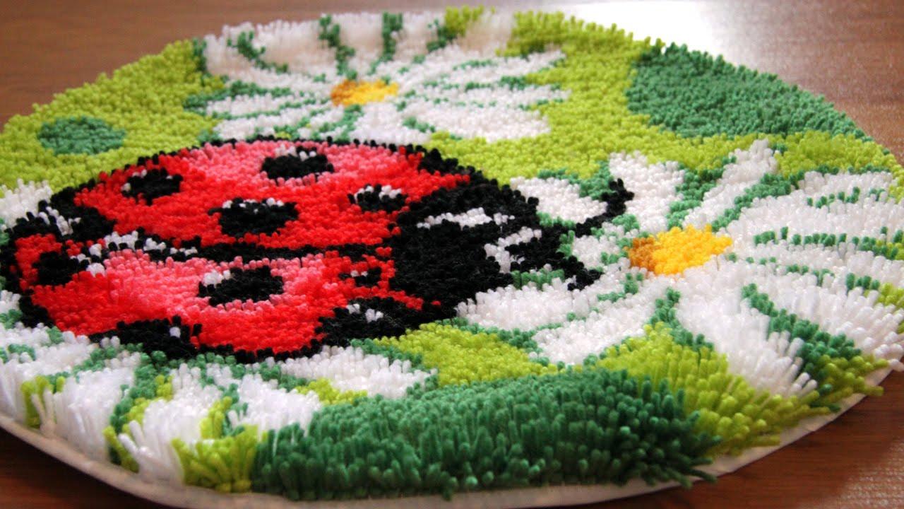 Вышивка в ковровой технике «продергивание нитей» - YouTube