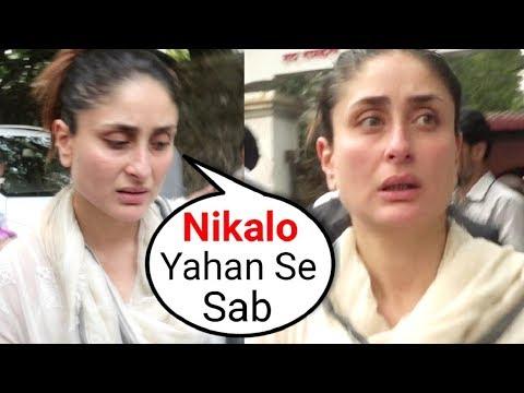 ANGRY Kareena Kapoor Shouts On Media At Her Grandmother Krishna Raj Kapoor Funeral