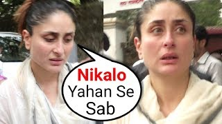 ANGRY Kareena Kapoor Shouts On Media At Her Grandmother Krishna Raj Kapoor Funeral