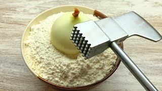 Wenn Sie Zwiebel und Mehl haben - machen Sie dieses Rezept! Super weiches und leckeres Brot! #66