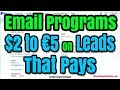 Best 3 Email Marketing Affiliate Program Pay for Leads