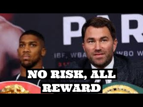 "(WOW!) ANTHONY JOSHUA CAN MAKE BIG MONEY ""RISK FREE"" SAYS HEARN 