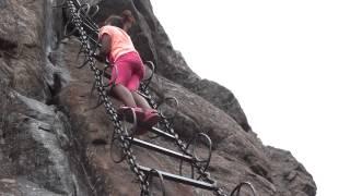 Naledi & Keketso Matobako with Thatonyana Climbing the Chain Ladders