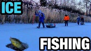 Ice Fishing SUBZERO Temps for BIG Bluegills!!!