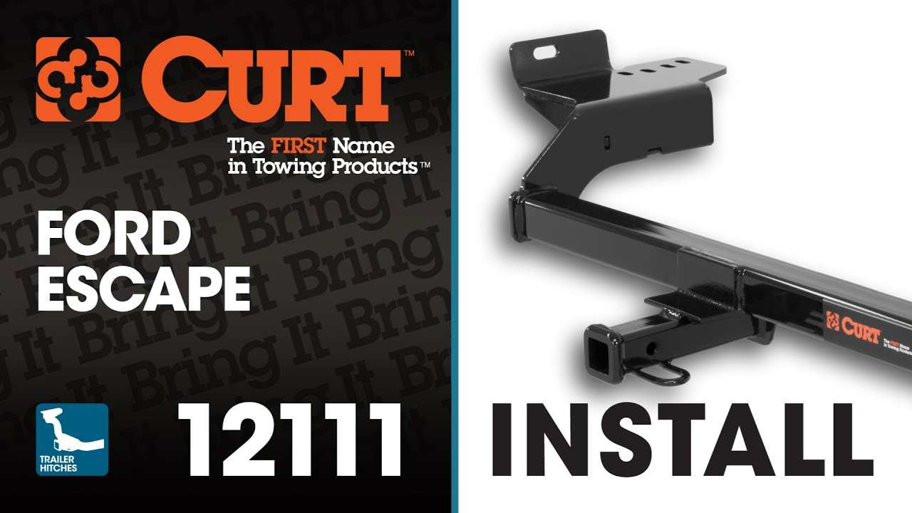 maxresdefault trailer hitch install curt 12111 on a ford escape youtube Trailer Light Wiring Kits at readyjetset.co