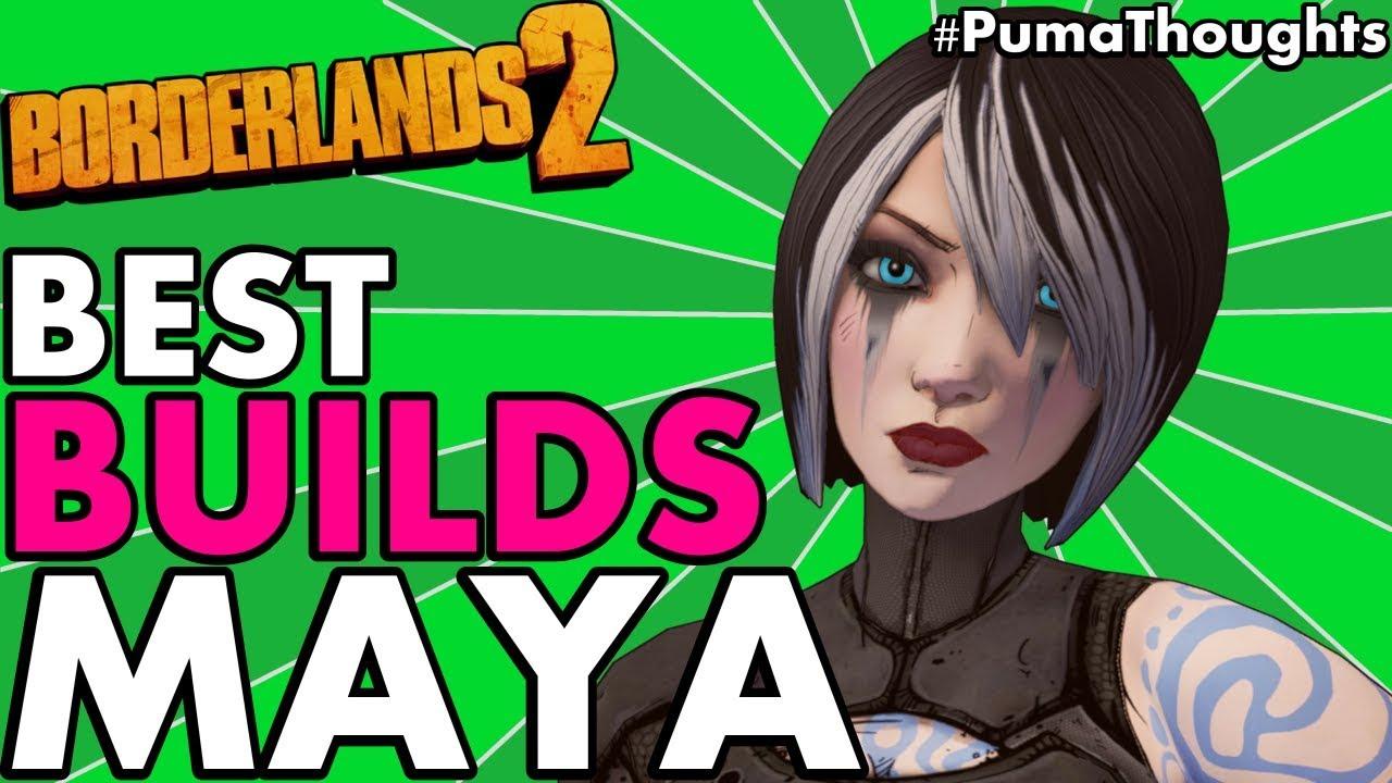 Borderlands 2: Best Build for Maya The Siren (Solo DPS & CoOp Healer LVL 50  & OP8) #PumaThoughts
