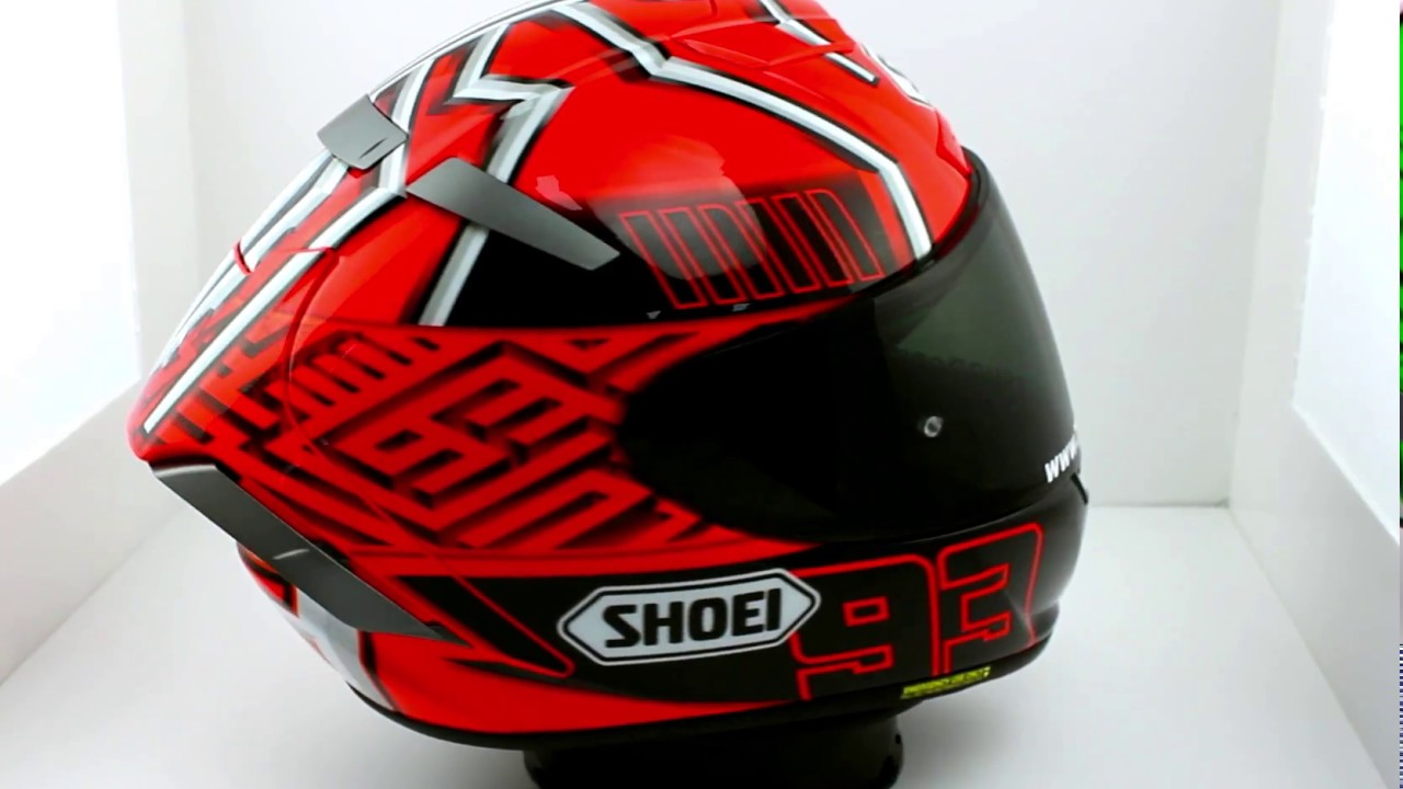 shoei x spirit iii marquez motorcycle helmet thevisorshop youtube. Black Bedroom Furniture Sets. Home Design Ideas