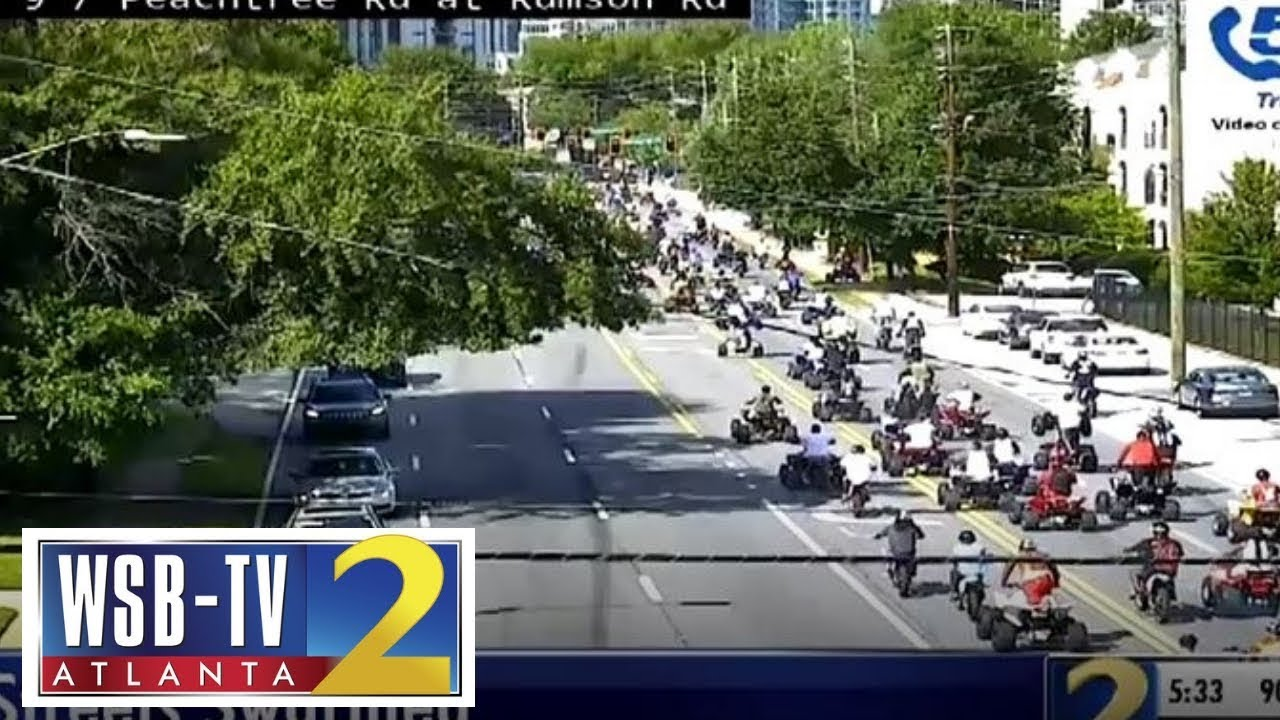 Dashcam video shows ATV riders creating havoc on Atlanta streets