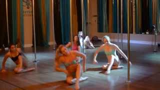 Unusual You - Britney Spears Beginner Pole Dance Routine 9-21-15