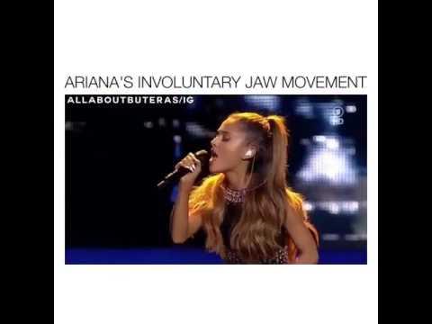 Ariana's involuntary jaw movements!!