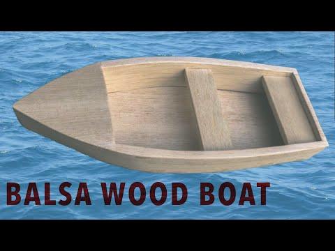 Balsa Wood Boat Build