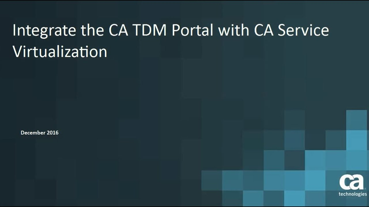 Integration with CA Service Virtualization - CA Test Data