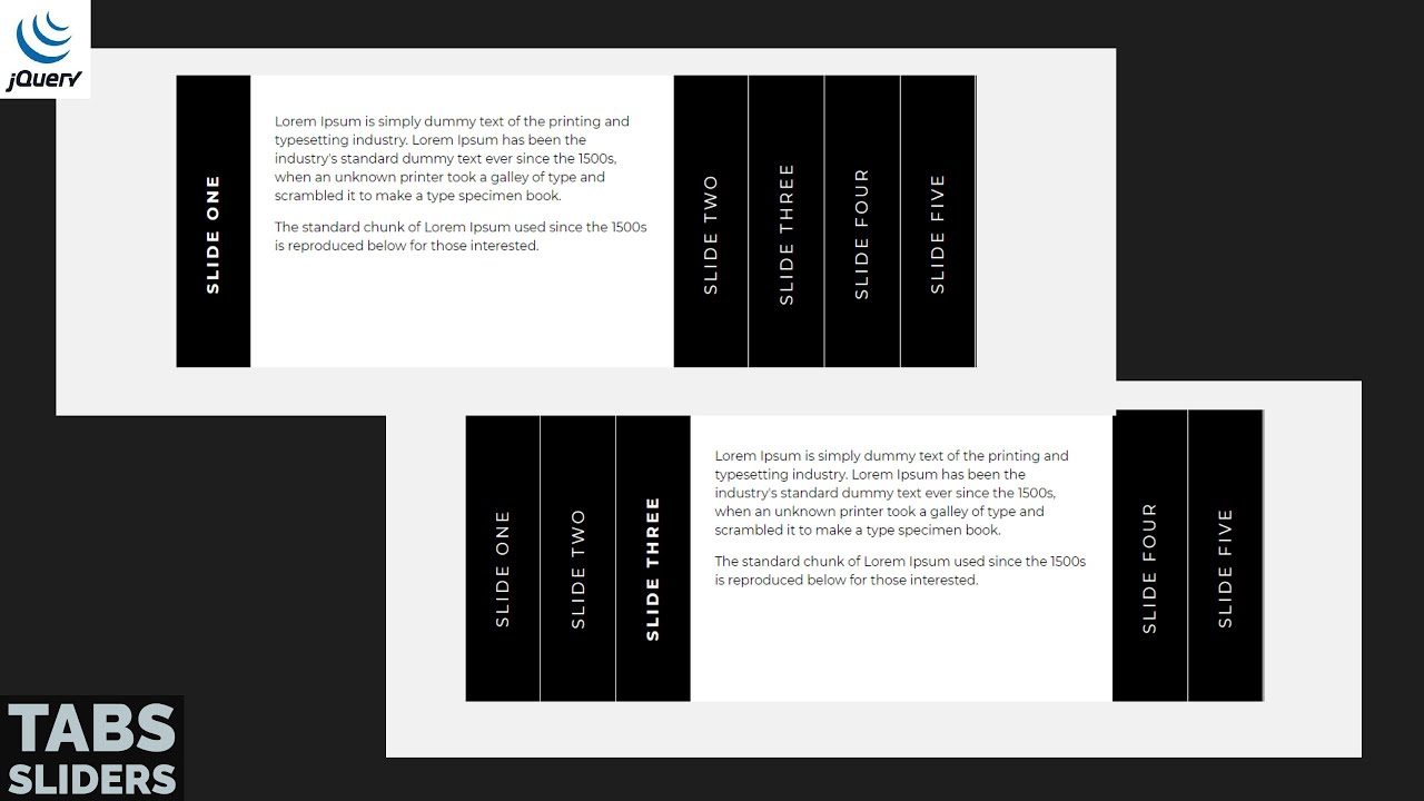 Build A Tab Sliders Using By HTML, CSS & jQuery | CodeExpress