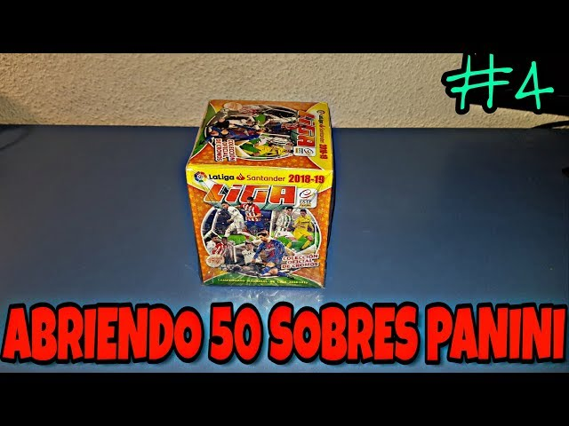 ABRIENDO CAJA CROMOS PANINI LIGA SANTANDER 2018/19 #4