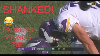 THE PACKERS TIED THE VIKINGS! LIVE REACTION!