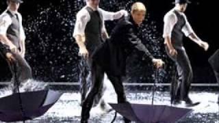 singing in the rain -umbrella-GLEE.