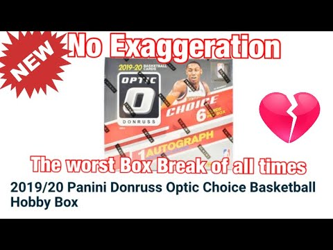 *The Worst Box Break To Date* 2019-20 Panini Donruss Optic Choice Hobby Basketball Box Break!