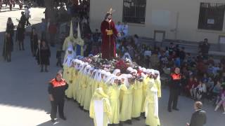 Procesión Gamarra 2015  Cristo dirigido por el Sr  Alcalde