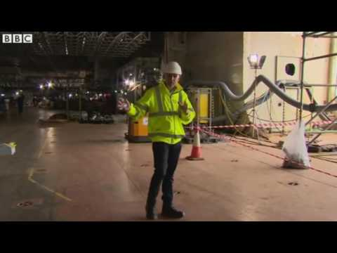 HMS Queen Elizabeth First Look at UKs New Aircraft Carrier  BBC News