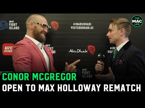 Conor McGregor on Max Holloway: