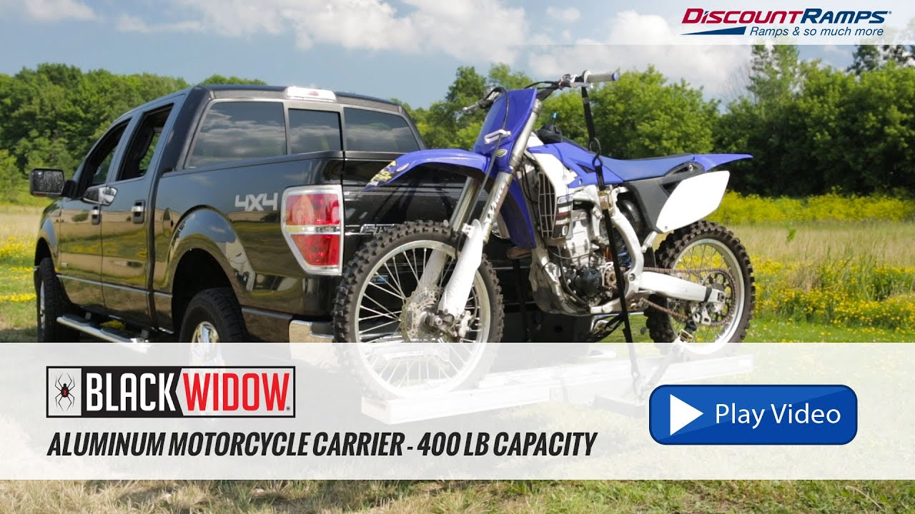 small resolution of haul master motorcycle carrier aluminum motorcycle carrier 400 lb capacity youtube