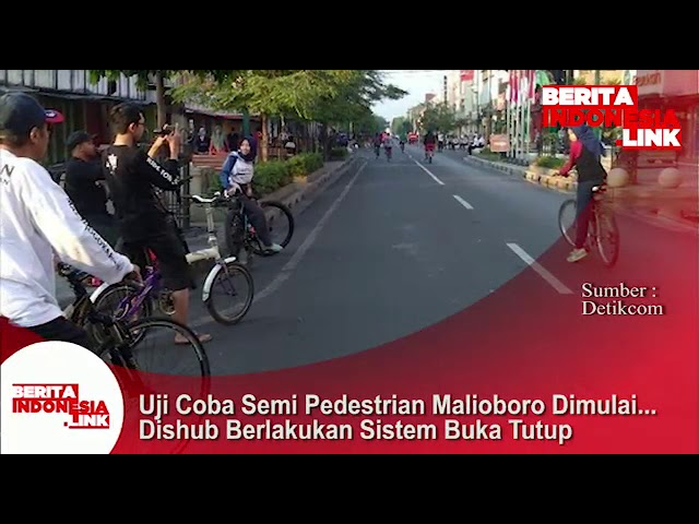 Uji Coba semi pedestrian Malioboro, Yogya dimulai. Dishub berlakukan sistem buka tutup.
