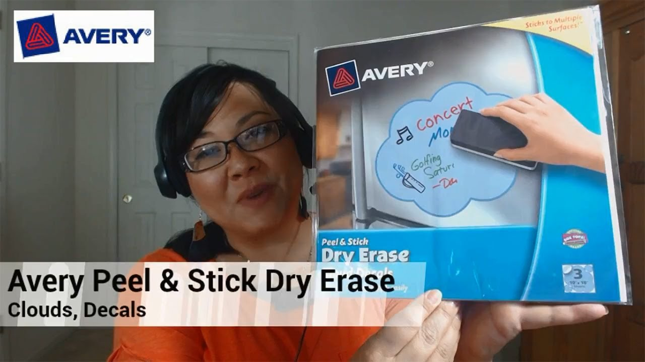 avery peel stick dry erase decals clouds 10 x 10 sheets 3pack