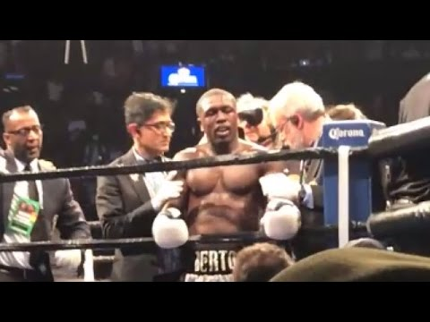 IMMEDIATE REACTION: SHAWN PORTER CELEBRATES WHILE ANDRE BERTO COMPLAINS AFTER 9TH ROUND TKO