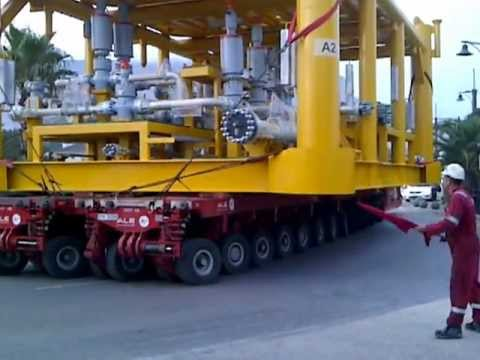 Transportation of subsea structures in Cape Town