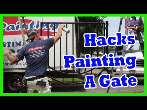 TIPS PAINTING An Iron Gate or Door with DTM.  Metal Fence Hacks.