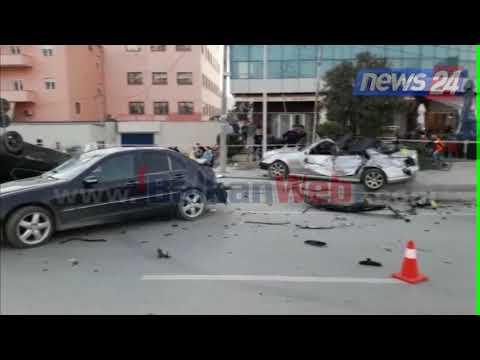 Makinat përmbys e të bëra copë, pamje nga aksidenti masiv në Vlorë