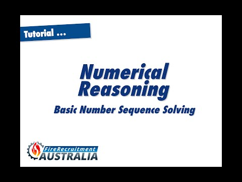 Numerical Reasoning Number Sequences