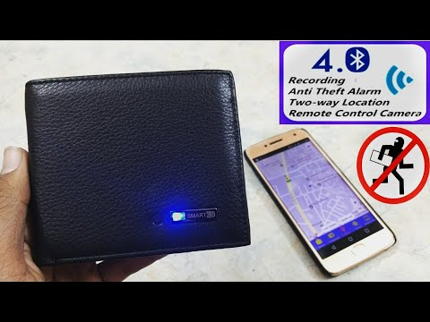 Anti-Theft Wallet With GPS Finder Unboxing & Review. [SMART WALLET]
