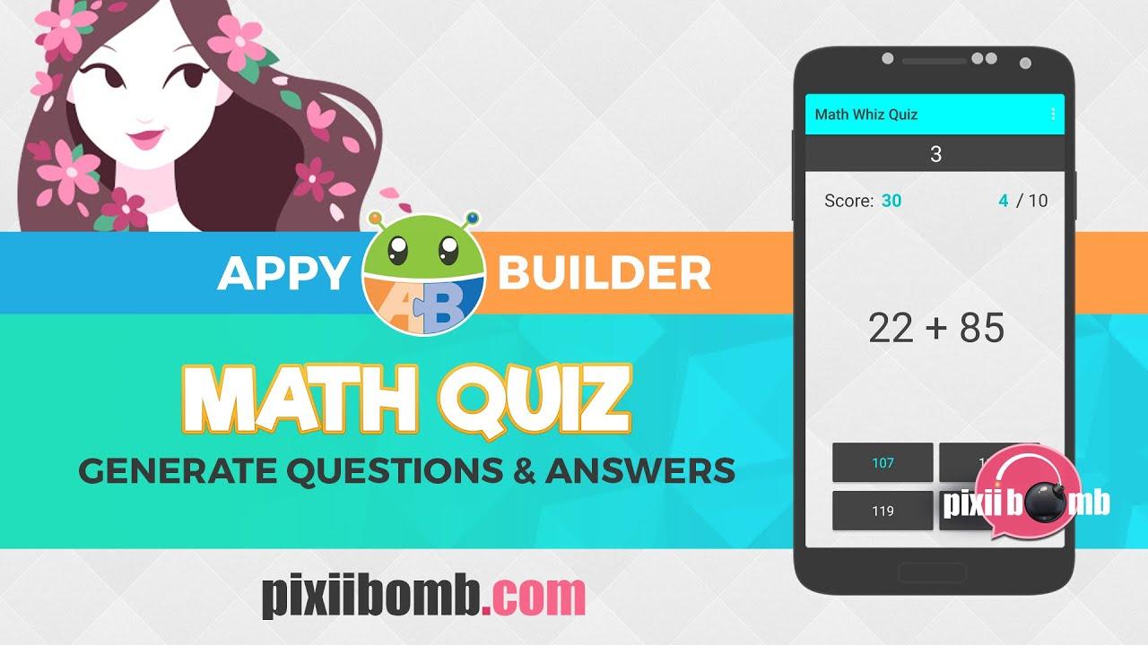 AppyBuilder: [Part 1] Math Whiz Quiz - YouTube