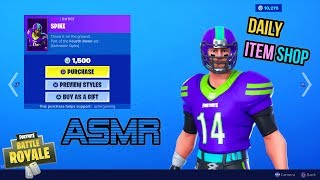 ASMR | Fortnite All NFL Skins Are Back! Fourth Down Set Item Shop Update 🎮🎧Relaxing Whispering😴💤