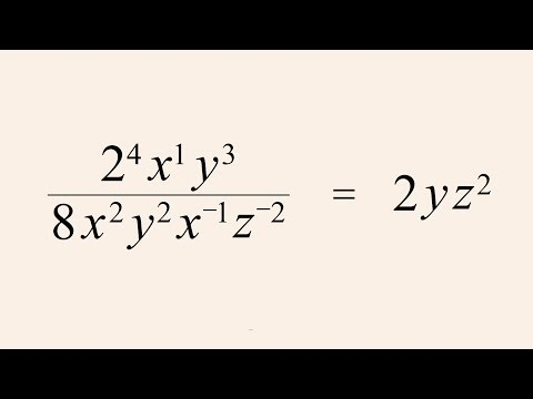 Pre-Algebra 26 - Simplifying Mixed Exponential Expressions