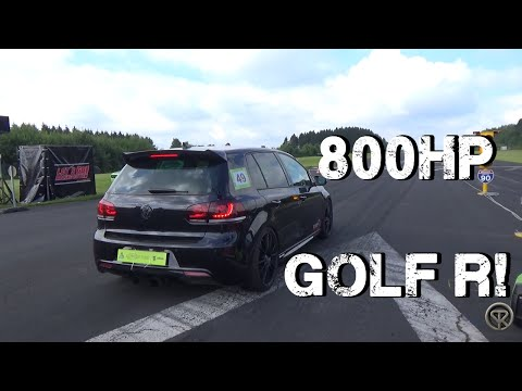 800HP VOLKSWAGEN GOLF R BiTurbo - ACCELERATIONS!