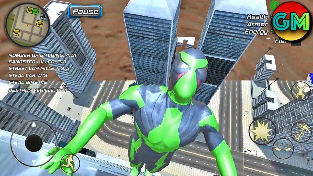 Rope Frog Ninja Hero – Strange Gangster Vegas (by Games) Android Gameplay HD