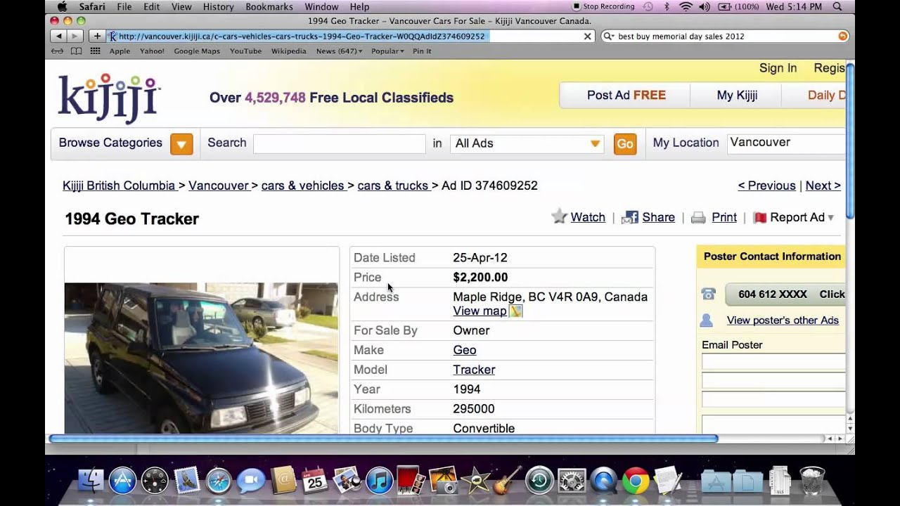 Kijiji Used Cars For Sale Under $5000 - Online Search Tools in ...