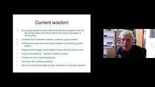 "Richard Henderson Science Culture Talk: ""The evolving LMB culture"""